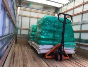 Loading the truck at OPCORN LLC